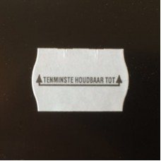 Etiket 26x16 golfrand wit permanent t.h.t. Td271830905