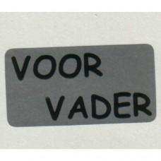Etiket Voor Vader zilver 500st Td27517060