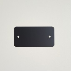 PVC-labels 54x108mm zwart 2 gaten 1000st Td35987123
