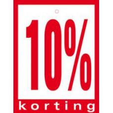 Geponste prijskaart 10% Korting 100st Tfr4510