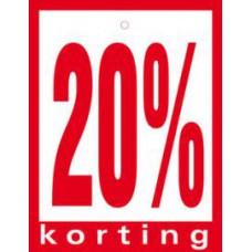 Geponste prijskaart 20% Korting 100st Tfr4520