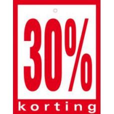 Geponste prijskaart 30% Korting 100st Tfr4530