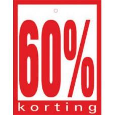 Geponste prijskaart 60% Korting 100st Tfr4560