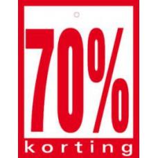 Geponste prijskaart 70% Korting 100st Tfr4570