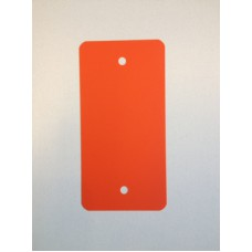 PVC-labels 54x108mm oranje 2 gaten 1000st Td35987114