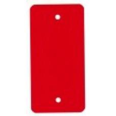 PVC-labels 54x108mm rood 2 gaten 1000st Td35987116