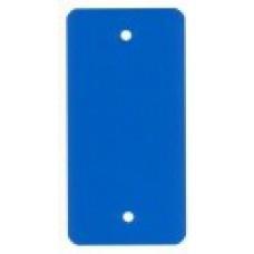 PVC-labels 54x108mm blauw 2 gaten 1000st Td35987118