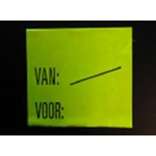 Etiket 29x28 fl geel perm Van/Voor Td27253094