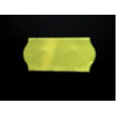 Etiket 26x12 golfrand fluor geel afneembaar Td27113116