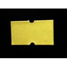 Etiket 21x12 rechthoek geel permanent Td27383003
