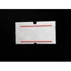 Etiket 21x12 rechthoek wit met rode streep Td27383024