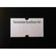 Etiket 21x12 rechthoek wit permanent THT Td27383090