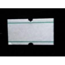 Etiket 21x12 rechthoek wit met groen afneembaar Td27383127