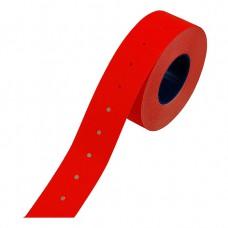 Etiket 21x12 rechthoek fluor rood permanent Tpk525321