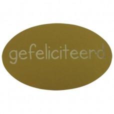 Etiket gefeliciteerd goud Tpk548206
