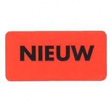 Etiket fluor rood -nieuw- 40x20mm Tpk549221