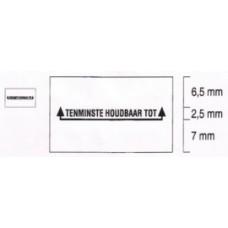 Etiket 26x16 rechthoek wit permanent THT Td27173090