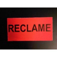 Etiket 37x19 fluor rood RECLAME permanent Td27283092