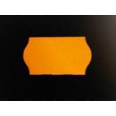 Etiket 26x12 golfrand fluor oranje perm 2-slit Td271130055