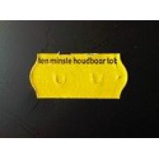 Etiket 26x12 golfrand geel perm 2slit tenminste houdbaar tot Td271130903