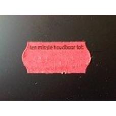 Etiket 26x12 golfrand rood perm 2slit tenminste houdbaar tot Td271130906