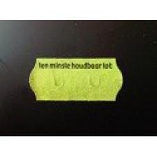 Etiket 26x12 golfrand groen perm 2slit tenminste houdbaar tot Td271130907
