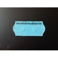 Etiket 26x12 golfrand blauw perm 2slit tenminste houdbaar tot Td271130908