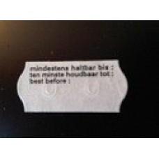 Etiket 26x12 golfrand wit diepvries bedrukt Td27113093