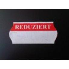 Etiket 26x12 golfrand wit/rood REDUZIERT Td27113096