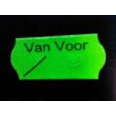 Etiket 26x12 golfrand fluor groen perm VAN VOOR Td27113097