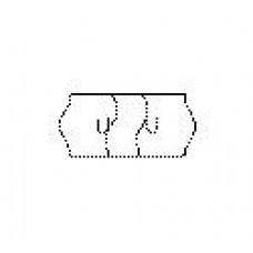 Etiket 26x12 golfrand wit permanent zekerheidsst Td27113002