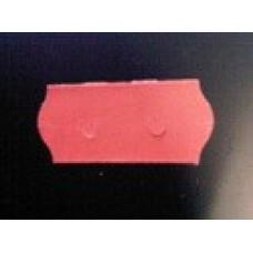 Etiket 26x12 golfrand rood afneembaar Td27113104