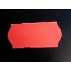 Etiket 26x12 golfrand fluor rood afneembaar Td27113114
