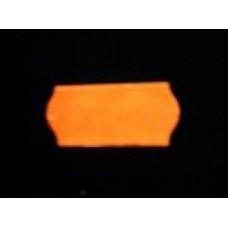 Etiket 26x12 golfrand fluor oranje afneembaar Td27113115