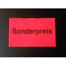 Etiket 26x16 rechthoek fluor rood Sonderpreis Td27173091