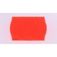Etiket 26x16 golfrand fluor rood permanent Td27183014