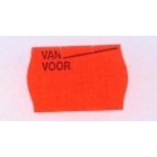 Etiket 26x16 rood permanent bedrukt van voor Td27183097