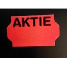 Etiket 32x19 golfrand fluor rood AKTIE Td27213191