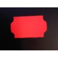 Etiket 32x19 golfrand fluor rood afneembaar Td27223114
