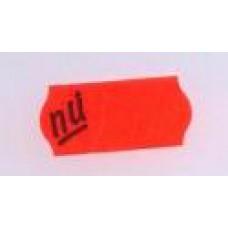 Etiket 26x12 golfrand rood NU afneembaar Td27113124