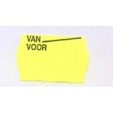 Etiket 26x16 golfrand geel permanent van voor Td27183093