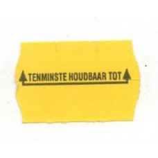 Etiket 26x16 golfrand geel permanent bedrukt tht Td27183096