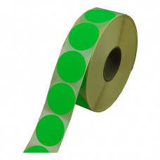 Prijssticker Ø25mm fluor groen 1000/rol Td27501725