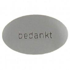 Etiket bedankt zilver 500st. Tpk548184