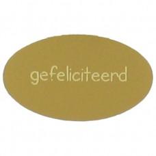 Etiket gefeliciteerd goud 500st. Tpk548186