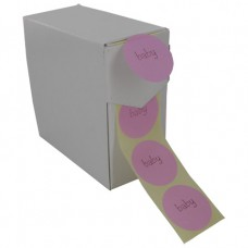 Etiket baby roze/lichtroze 500st Tpk548193