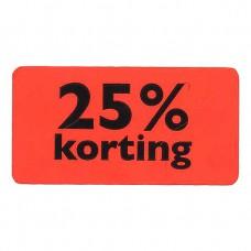 Etiket fluor rood 25% korting 47x25mm 1000st Tpk549705