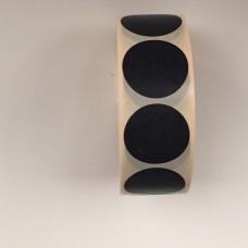 Prijssticker Ø25mm zwart 1000/rol Thw032325