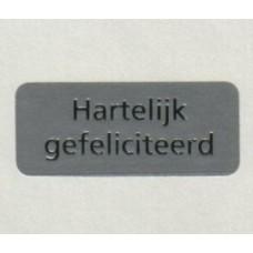 Etiket Hartelijk Gefeliciteerd zilver/zilver Td27515590