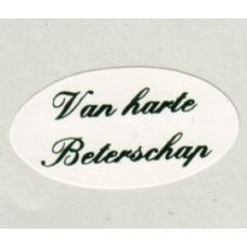 Etiket Van harte Beterschap wit/groen Td27515220